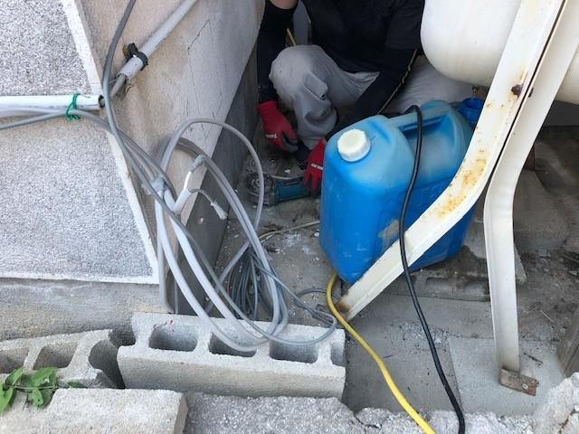 2020年8月 阪南市I様邸給湯器からエコキュートに取替工事