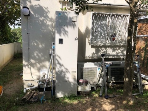 2019年9月 阪南市I様邸エコキュート取替工事