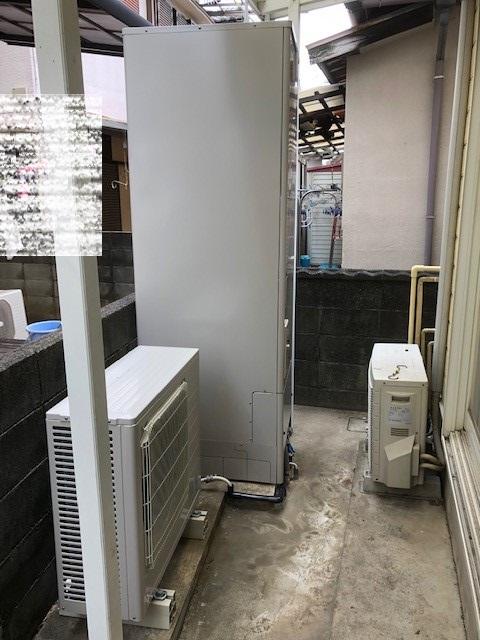 2019年2月 阪南市A様邸 電気温水器からエコキュートに取り替え2