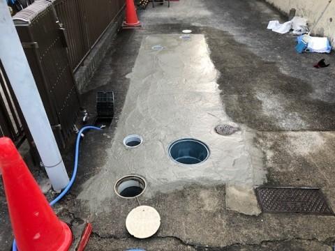 2018年10月 泉南市O様邸 下水切替工事3